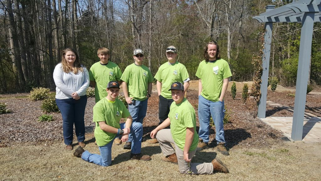 Granville Central FFA Team front row left to right was Tim Daniel and Cole Falls, Back row Kelly Dixon (Advisor) Colby Baird, Triston Tilley, Dalton Sides and Jacob Ganzzermiller.