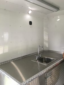 Inside of the Companion Animal Shelter Trailer