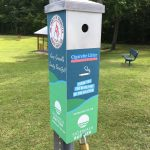 new cigarette receptacles installed