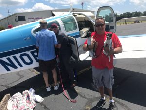 Lucky Labs flies out dogs from Granville County Shelter.