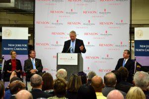 Bill Welz, Revlon, gives remarks.