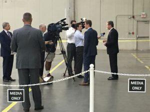 Governor Roy Cooper addresses the press.
