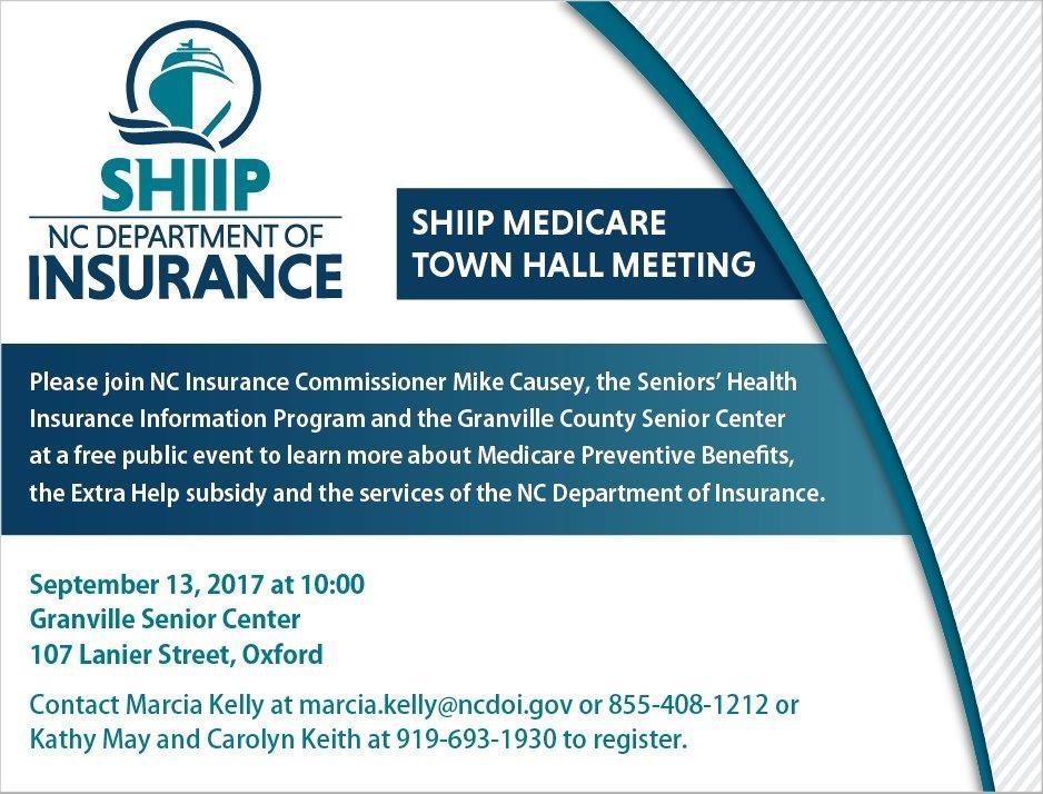 SHIPP Town Hall Meeting flyer
