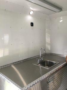 Inside of the Companion Animal Shelter Trailer