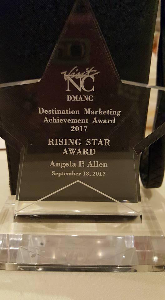 Rising Star Award trophy