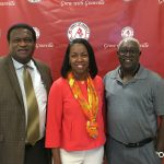 Commissioners Cozart and Jay pictured with Dr. Stelfanie Williams from VGCC