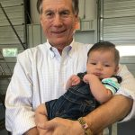 Mike Causey with baby